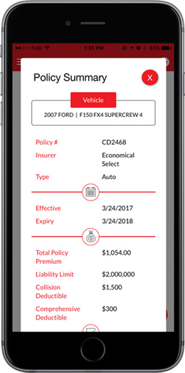 Insurance App Policy Summary